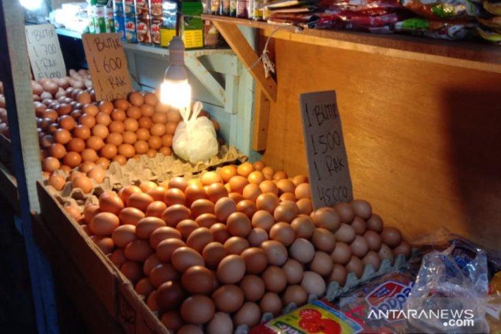 Harga telur ayam ras di pasar Ambon turun bervariasi