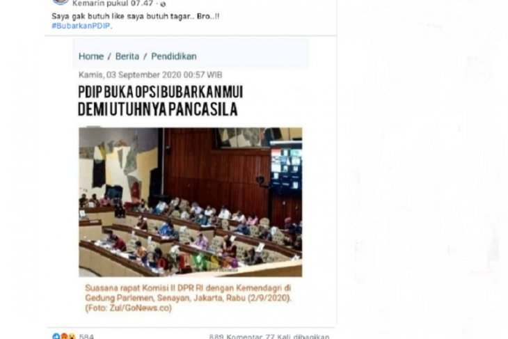 Cek Fakta: PDIP buka opsi bubarkan MUI?