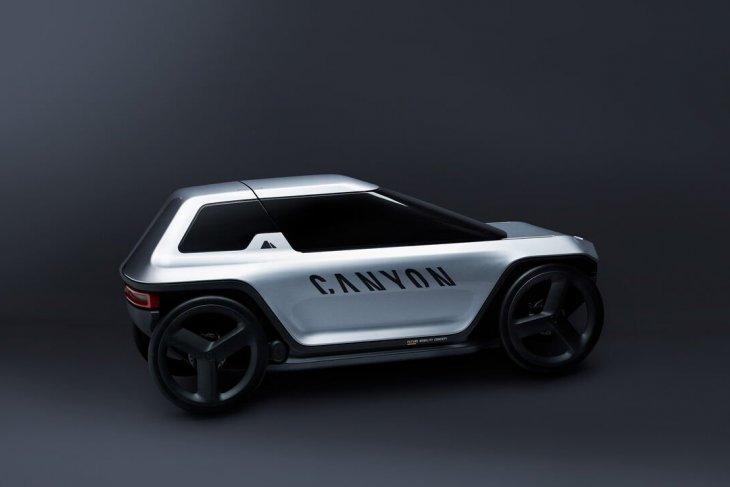 Mobil konsep Canyon digowes seperti sepeda 1