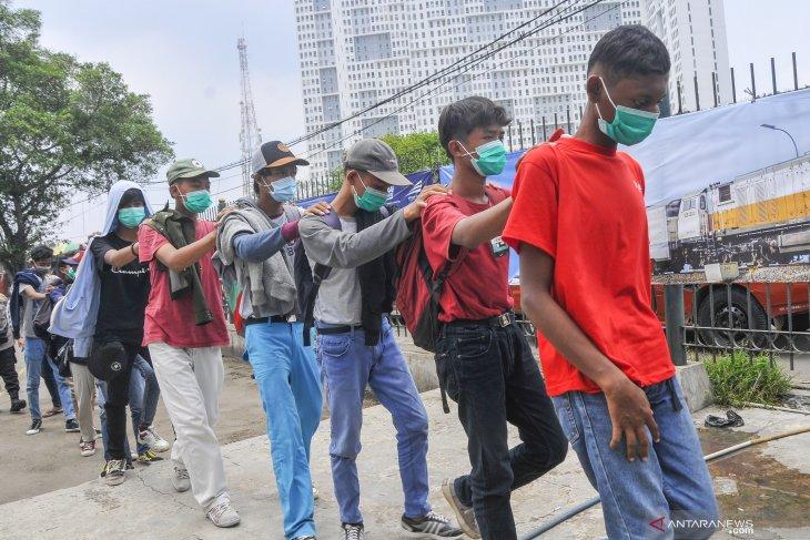 Polisi razia pelajar di Bekasi