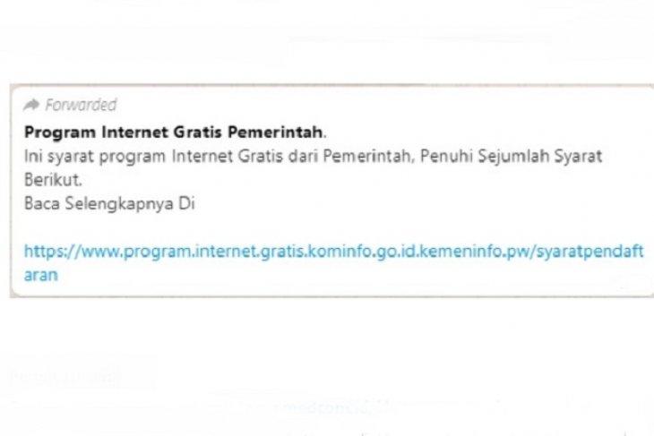 Hoax: Program Internet Gratis Pemerintah