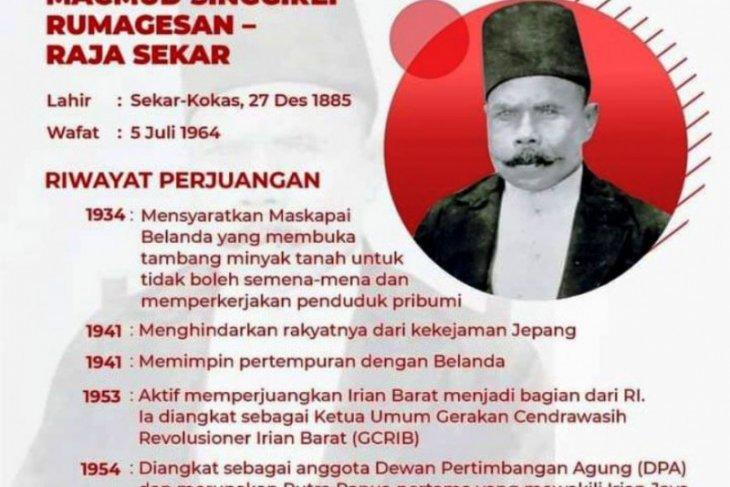 Macmud Singgirei Rumagesan, Pahlawan Nasional pertama Papua Barat