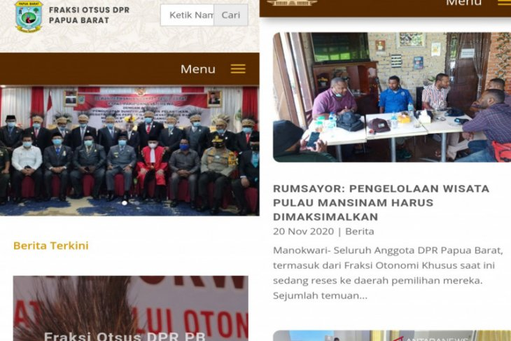 Fraksi Otsus DPR Papua Barat luncurkan situs website