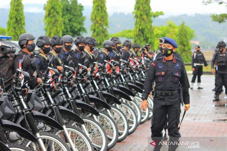 Brimob Polda Maluku gelar apel kesiapsiagaan pengamanan Pilkada 2020