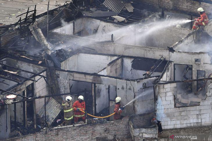 Kebakaran pemukiman di Benhil