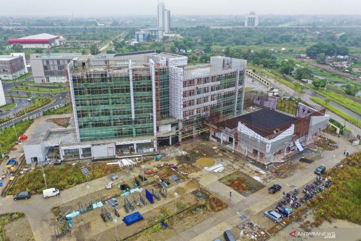 Progres pembangunan Hotel Poltekpar di kawasan Jakabaring