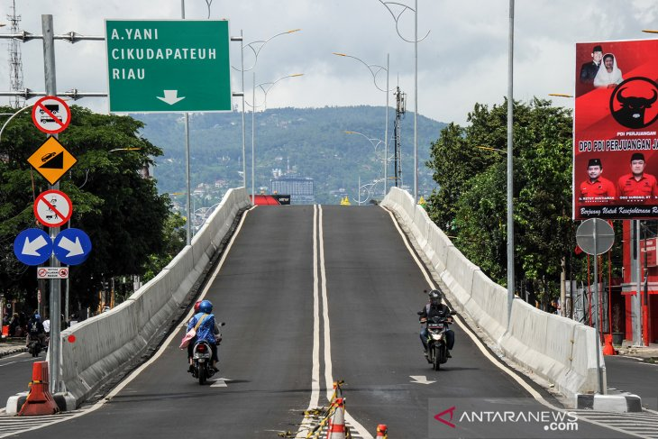 Suasana sepi kota Bandung pada tahun baru 2021