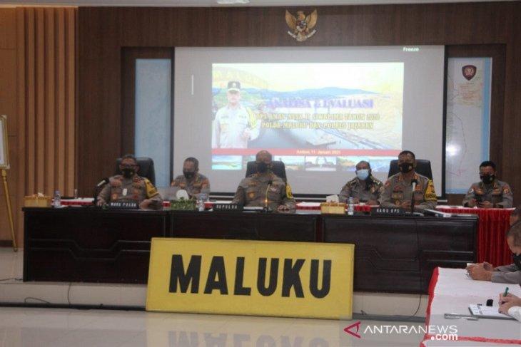 Pejabat utama dan Perwira Polda Maluku rapid tes antigen