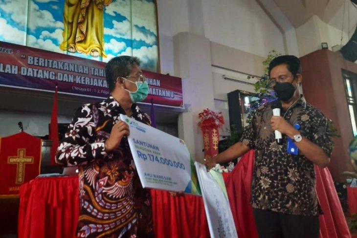 BPJAMSOSTEK Maluku santuni dua pendeta GPM
