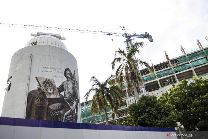 Progres proyek revitalisasi Taman Ismail Marzuki