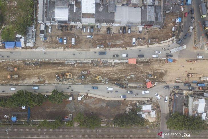 Pembangunan underpass Bulak Kapal di Bekasi
