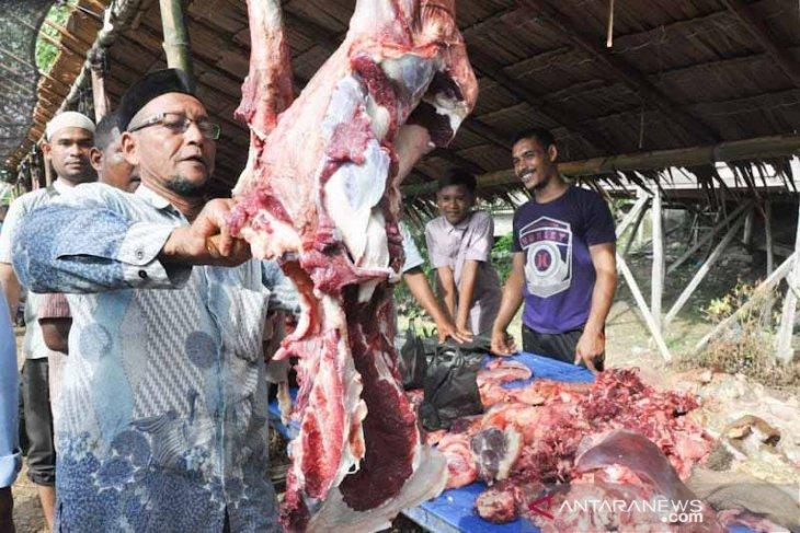 Harga daging meugang Idul Fitri di Aceh Timur Rp180 ribu per kilogram thumbnail