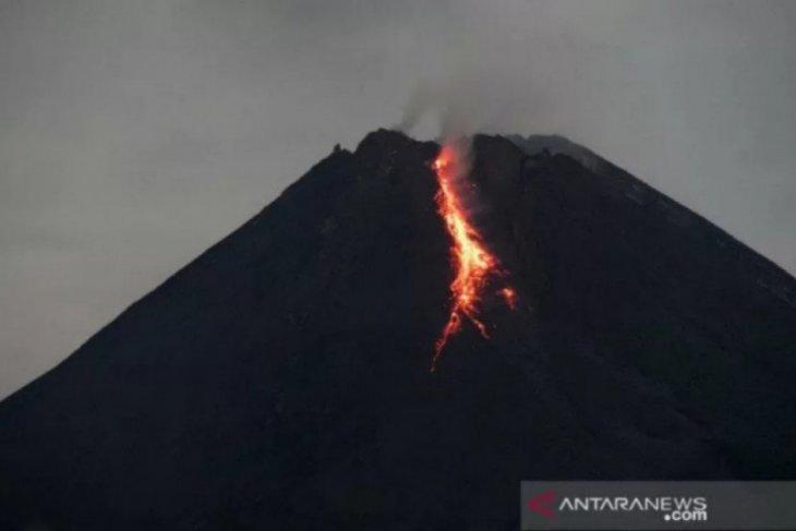 lava pijar gunung merapi sejauh 1 Km berguguran thumbnail