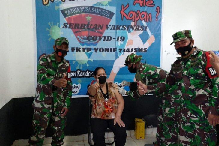 Kodim 1507 gelar vaksinasi COVID-19 bagi purnawirawan TNI – AD di Saumlaki