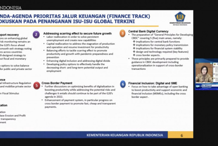 Indonesia reveals seven priorities in G20 Presidency's finance track