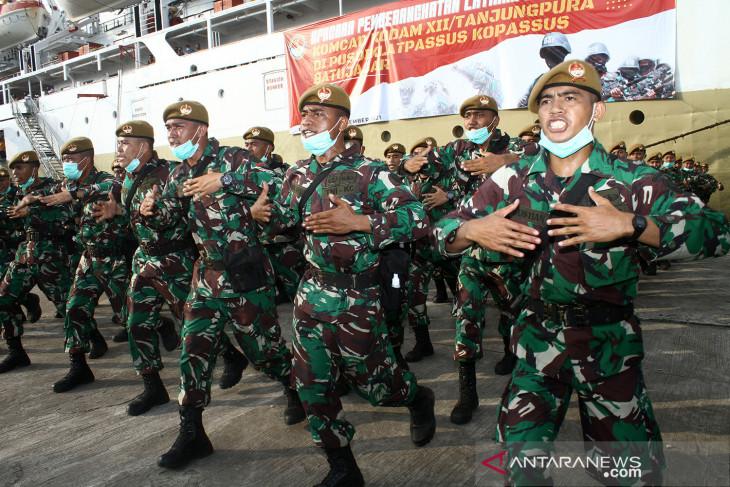 Pemberangkatan prajurit Komcad Kodam XII/Tanjungpura