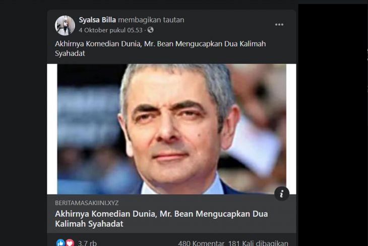 hoaks mr.bean - SatuPos.com
