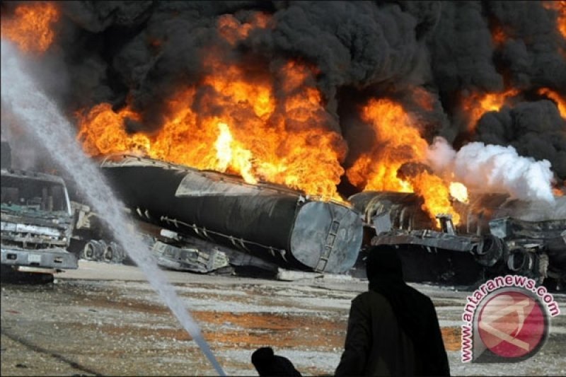 Truk tangki BBM di Tanzania meledak, 57 orang tewas