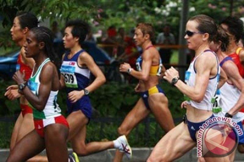 Pelari Bahrain rebut medali emas marathon putri, Triyaningsih absen