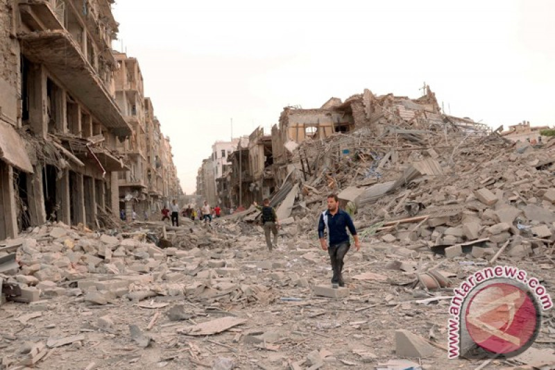 Tiga orang cidera dalam serangan bom terhadap permukiman di Aleppo