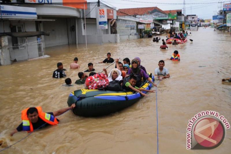 Ratusan rumah di pantura Subang kebanjiran