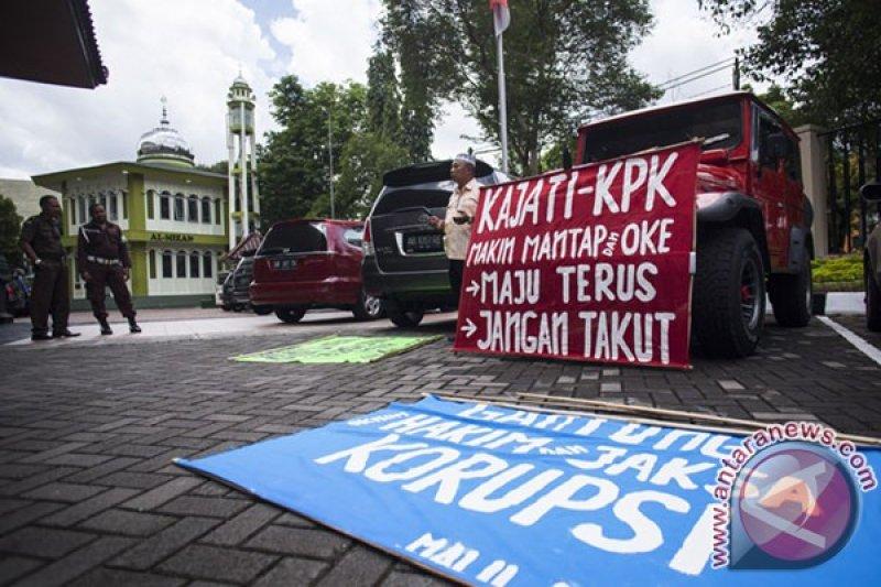 Aksi Dukung Pemberantasan Korupsi