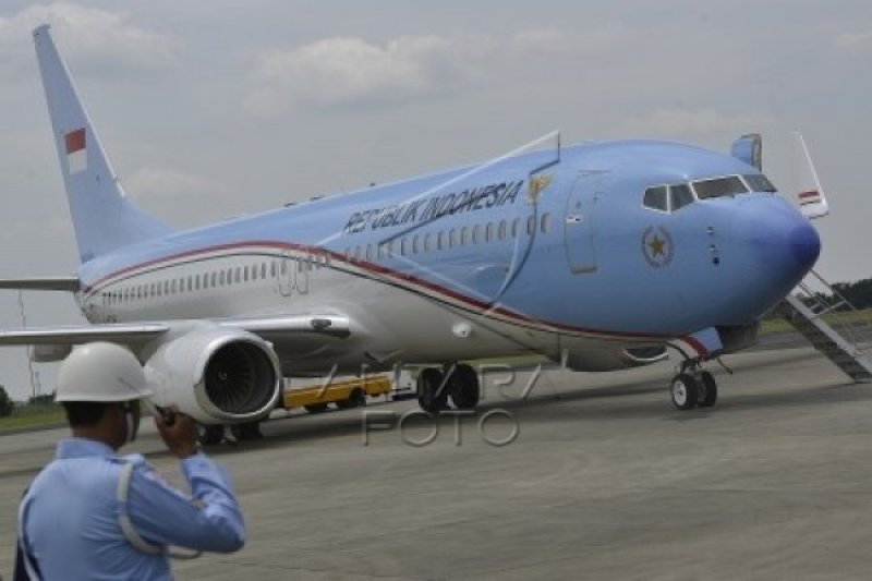 Presiden Terbang Perdana Dengan Pesawat Kepresidenan