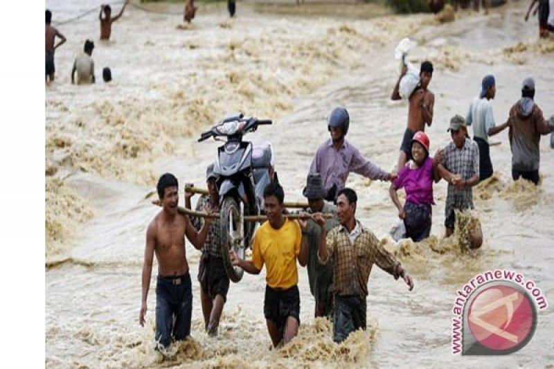 Banjir di Myanmar paksa ribuan warga mengungsi