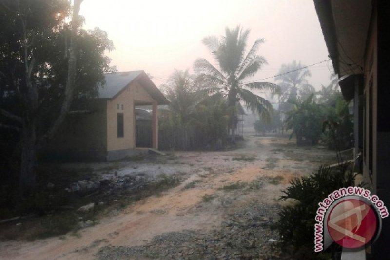 Kabut asap di Penajam pekat pada malam hingga pagi