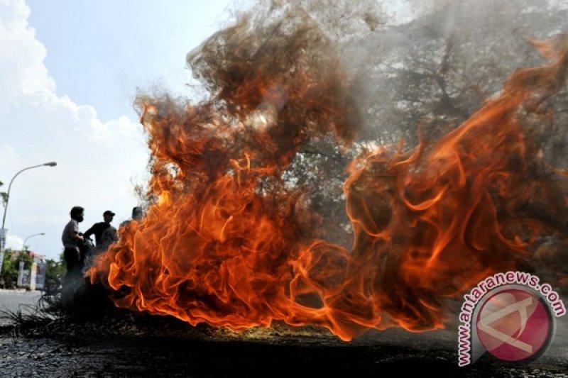 Status tersangka penyebab polisi terbakar telah ditetapkan