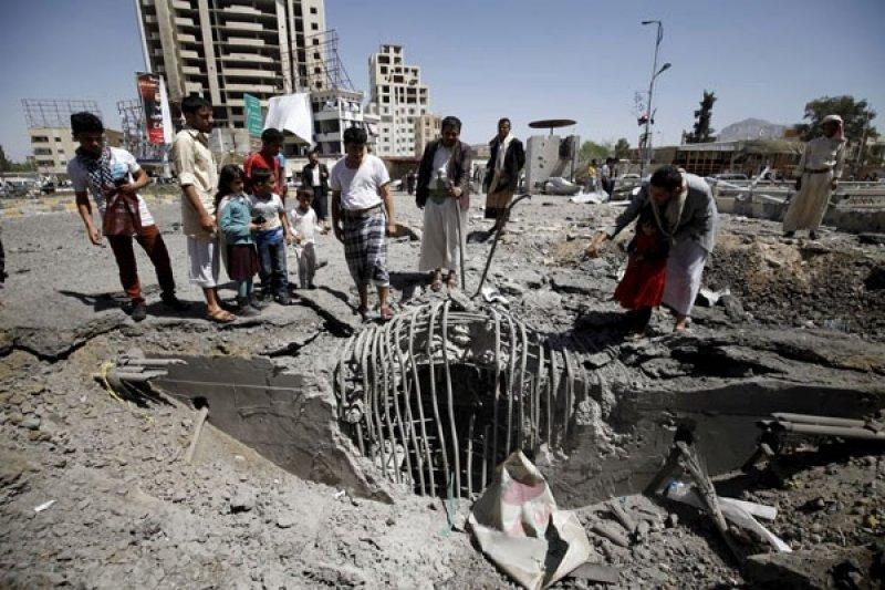 Koalisi pimpinan Saudi gerebek  pesawat nir-awak di Sanaa Yaman