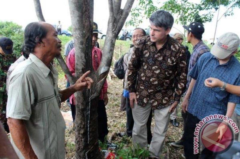 Duta Besar As Kunjungi Perkebunan Karet Di Pulang Pisau