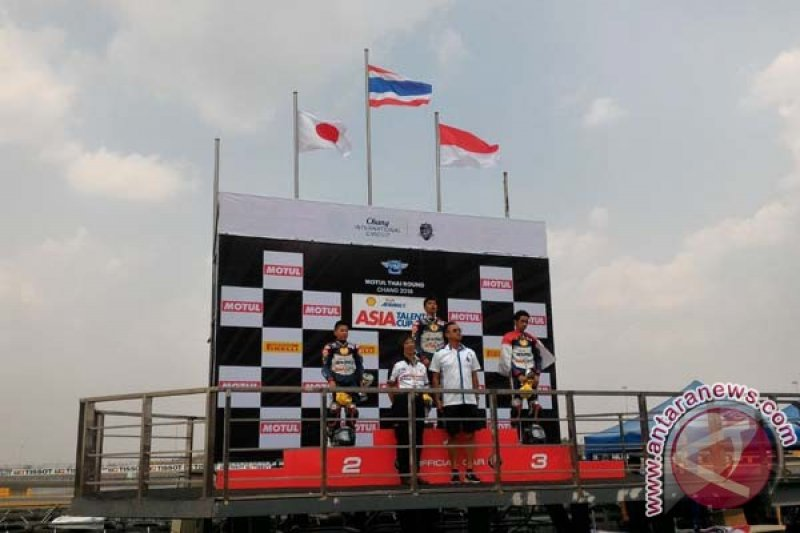 Pebalap Sulsel naik podium kejuaraan Asia