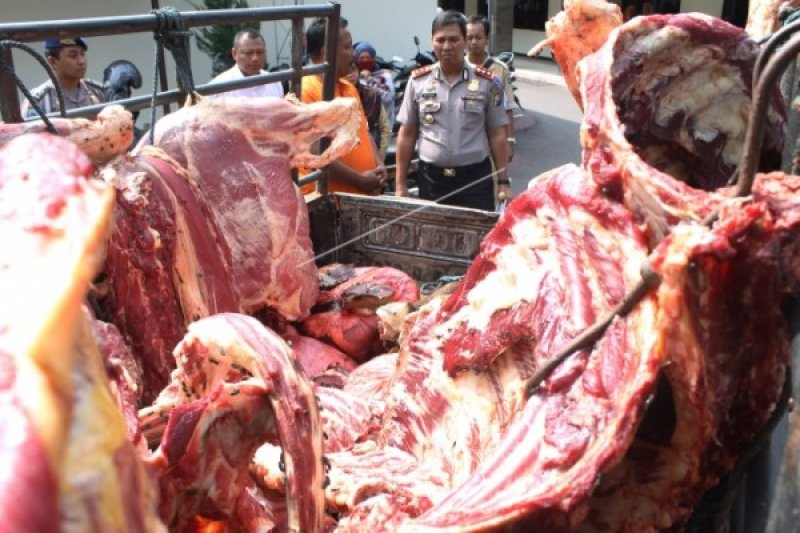 200 Kg Daging Gelonggongan di Semarang Diamankan