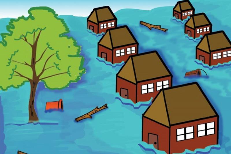 Banjir melanda sebagian Sampit
