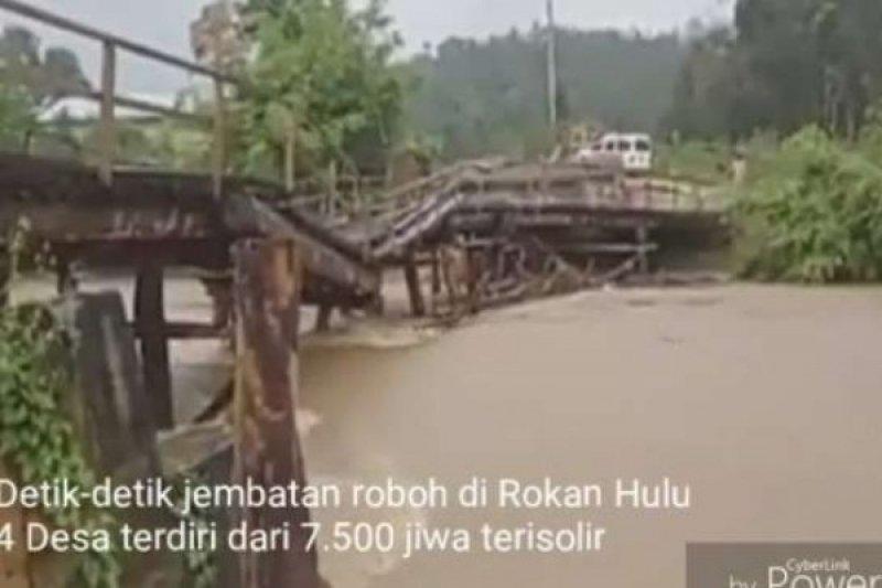 Intensitas hujan di daerah banjir Riau tinggi, terutama daerah banjir Rohul
