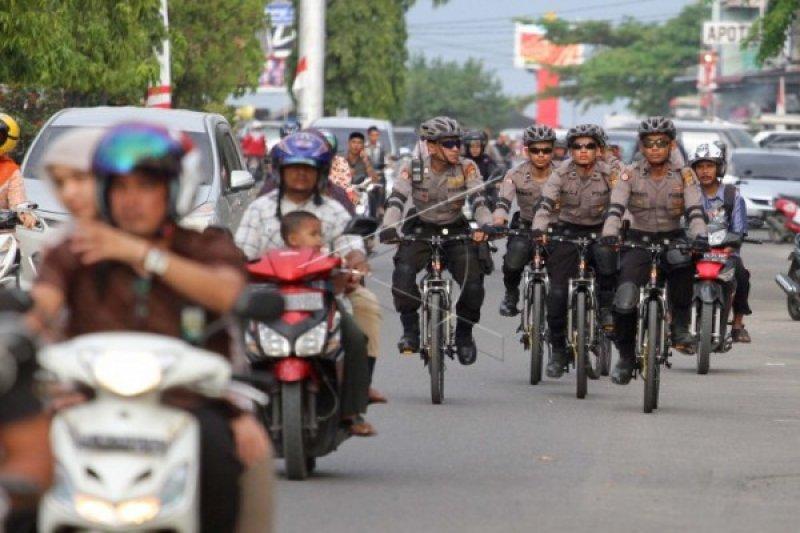 Dandim-Kapolres Ponorogo patroli bersepeda