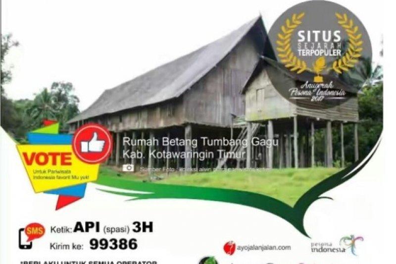 Betang Tumbang Gagu Nominator Situs Bersejarah Terpopuler