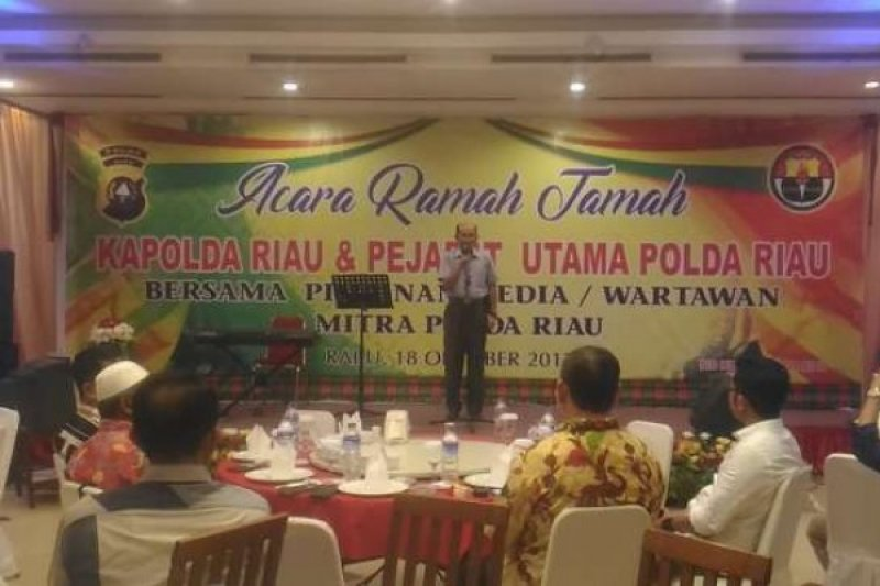 Temu Ramah dengan Wartawan, Kapolda Riau: Kami Siap Dikoreksi Media