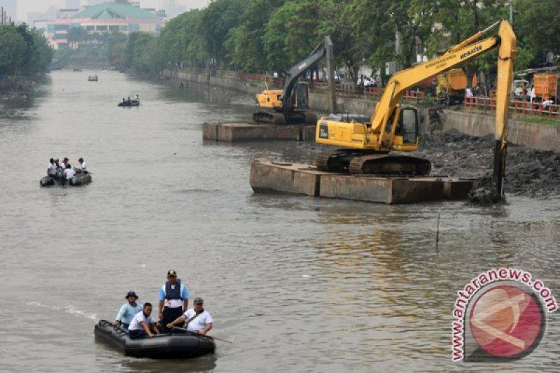 15 ribu ikan nila dilepas di Sungai Kalimas Surabaya