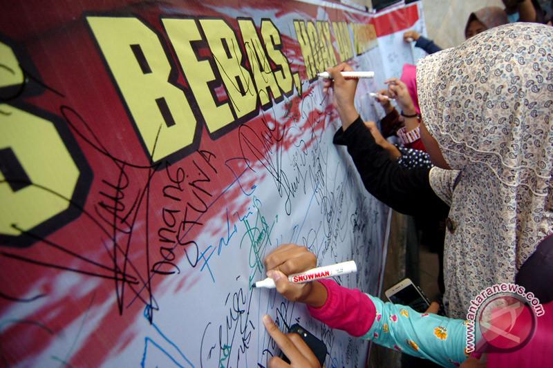 Pemuda Margasari Lampung Timur deklarasi antinarkoba