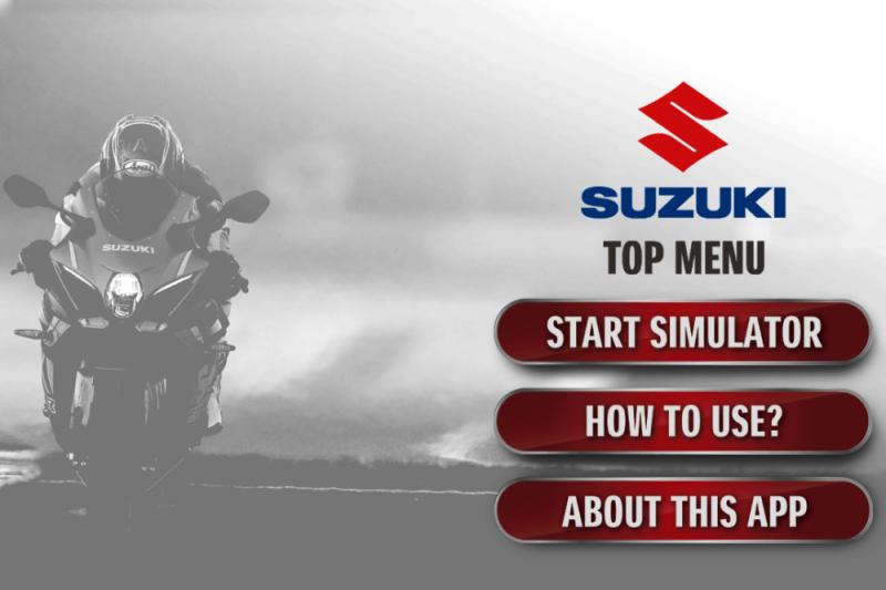 Suara akselerasi motor Suzuki bisa dirasakan lewat aplikasi ponsel