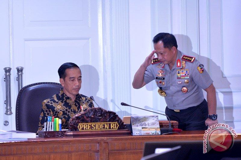 Presiden Jokowi beri waktu 3 bulan bagi Kapolri selesaikan kasus Novel