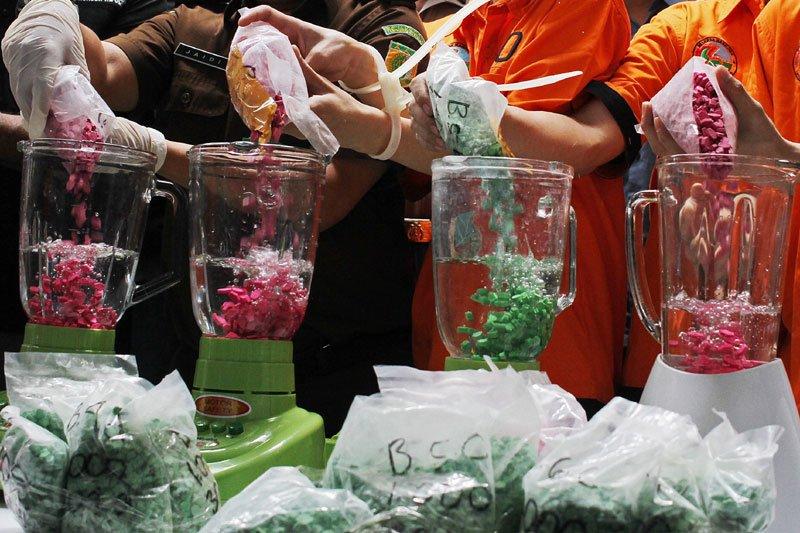 Pemusnahan barang bukti narkotika