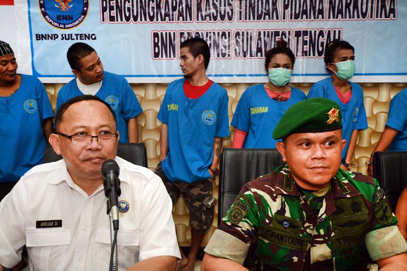TNI gerebek transaksi narkoba