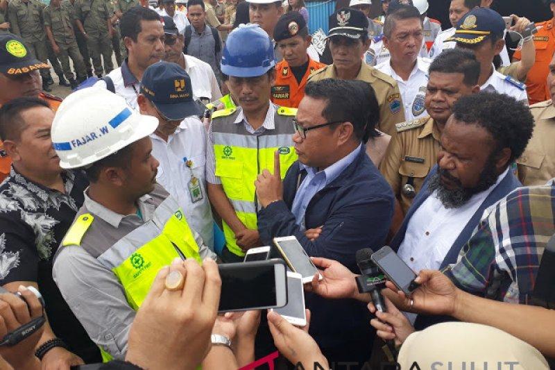 """DPR-RI  kunjungi """"overpass"""" ambruk tol Manado-Bitung"""