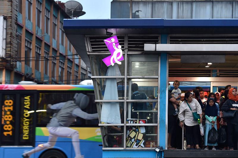 Jakarta gratiskan ongkos Transjakarta sukarelawan Asian Games