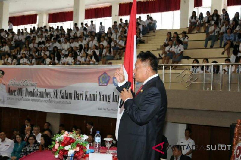 Mengajar 10.000 siswa, Gubernur Sulut dapat penghargaan MURI