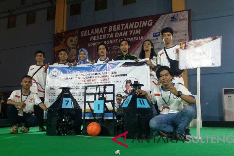 STMIK Adhi Guna juara I lomba robot KRSBI Beroda Regional II