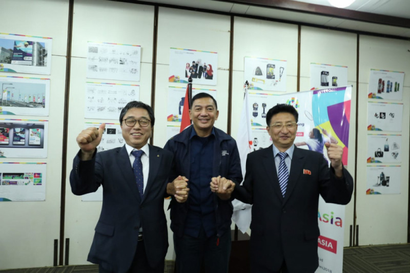 Korut-Korsel melebur dalam tiga cabang Asian Games 2018